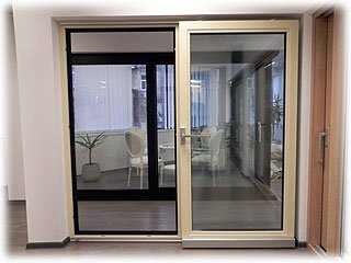 алюминиевые раздвижные двери