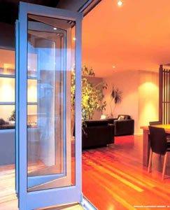 Алюминиевая дверь гармошка 5
