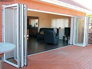 Алюминиевая дверь гармошка 4