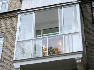 Балкон купе (вид снаружи )