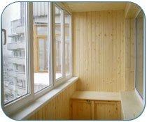 Внутреняя отделка балкона