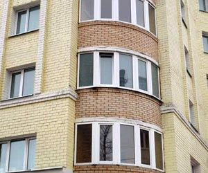 Балкон металлопластиковый круглый