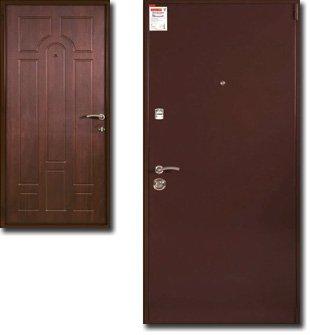 двери металлические с тепловой изоляцией двупольные