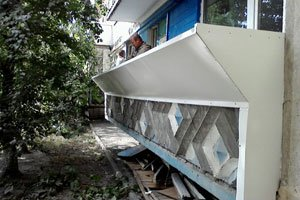 Металло-пластиковые балконы киев