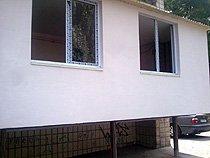 Расширение балкона (утепление наружной стены пенопластом + штукатурка)