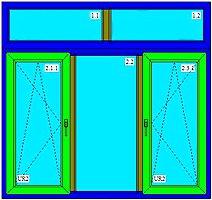 Окна с фрамугами