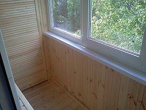 Внутреняя отделка балкона заказать